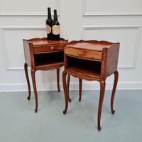 French Oak Bedside Tables c.1930 (3 of 5)