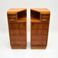 Pair of Vintage 1950's Walnut Bedside Chests (2 of 12)