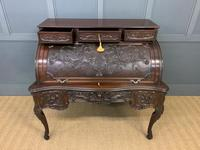 Maple and Co. Large Mahogany Cylinder Desk (7 of 25)