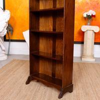 Carved Oak Open Bookcase Bookshelves (6 of 8)