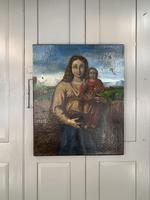 Antique Spanish oil painting study of Madonna and child (2 of 10)
