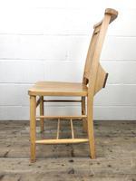 Set of Twelve Vintage Beech Chapel Chairs (14 of 15)