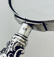 Victorian Sterling Silver Magnifying Glass Levi & Salaman 1901 (10 of 12)