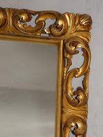 Small Late 19th Century Florentine Giltwood Mirror (4 of 4)
