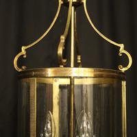 French Gilded Triple Light Antique Lantern (9 of 10)