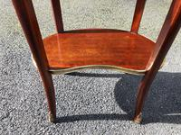 Antique Marble Top Mahogany Kidney Shaped Table (8 of 8)