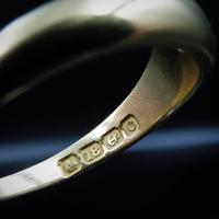 Antique Old Cut Diamond Solitaire Gypsy 18ct Yellow Gold Ring Band (7 of 9)