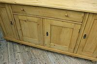 Big! Old 2m Pine Dresser Base / Sideboard / Cupboard / TV Stand - We Deliver! (3 of 13)