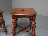 Antique Pair of Red Walnut Stools (5 of 11)