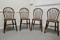 4 High Windsor Beech & Elm Hoop Back Windsor Chairs (2 of 5)