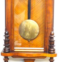 Superb Antique German Twin Walnut 8-Day Mantel Clock Vienna Striking Wall Clock (10 of 10)