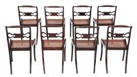 Set of 8 Regency faux rosewood dining chairs 19th Century (5 of 7)
