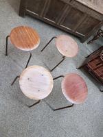 4 Vintage Kitchen Stools (2 of 4)