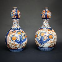 Pair of 19th Century Imari Vases (6 of 8)