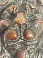 Architectural Early 19th Century Small William Ivbronze Lion Door Knocker (12 of 15)