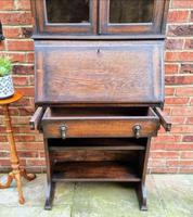 Solid Oak Antique Arts & Crafts Bureau Victorian Late 19th Century (6 of 7)