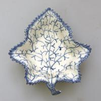 Good Antique Pearlware Pottery Blue & White Pickle Dish by Rogers c.1810