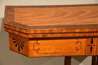 George III Satinwood, Rosewood & Ebony Inlaid Card Table (2 of 10)