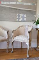 Pair of Late 19th Century French Part Upholstered Painted Tub Chairs (4 of 23)