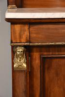 19th Centruy Marble Top Mahogany Chiffonier Sideboard (5 of 8)