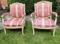 Pair of Large Painted Armchairs (2 of 9)