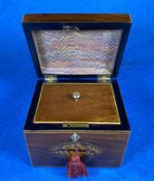 18th Century Mahogany  Shell Inlaid Tea Caddy (7 of 18)