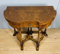 Late Victorian Burr Walnut Card Table (8 of 9)