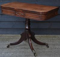 Elegant Regency Mahogany D-end Tea Table c.1820 (5 of 11)