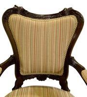 Pair of 19th Century Mahogany Open Armchairs c.1890 (6 of 8)