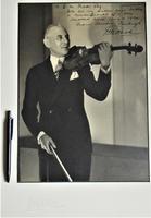 Leon Levson 'Photographer', Large Studio Photograph Portrait of David de Groot, Violinist, Dated 1929, Signed & Inscribed (2 of 5)