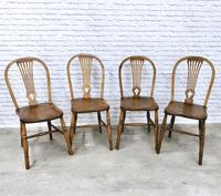 Set of 4 Windsor Kitchen Chairs with Unusual Back-rest Style (2 of 7)