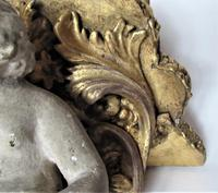 Italian 18th Century Carved and Gilded Shelf Bracket with Plaster Putto, ex Country House (3 of 8)