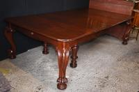 Antique Victorian Dining Table Extending Mahogany Cabriole legs 1840 (7 of 13)