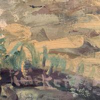 Antique German Impressionist Landscape Oil Painting of Woodland Signed Keiker (4 of 10)