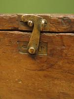 Antique Oak Chest, Early 19th Century Storage Chest for Weights, Lockable (5 of 21)
