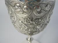 Edwardian Silver Goblet with Knobbed Stem & Plain Splayed Circular Foot (4 of 6)
