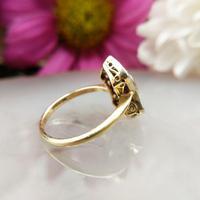 Art Deco 18ct Gold, Platinum Ruby & Diamond Shield Ring (8 of 8)