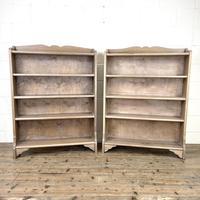 Pair of Antique Oak Bookcases