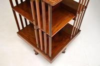 Antique Victorian Walnut Revolving Bookcase (6 of 10)