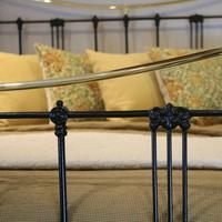 5ft Black Art Nouveau Brass and Iron Bed (6 of 7)