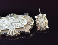 Victorian Silver Demi Parure, Earrings & Brooch (3 of 14)