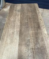 Larger French Bleached Oak Trestle Farmhouse Dining Table (12 of 21)