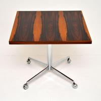 Rosewood & Chrome Vintage Coffee / Side Table by Howard Keith