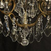 French Gilded Birdcage 11 Light Crystal Antique Chandelier (4 of 10)