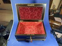 19th Century French  Ebonised Fruitwood Jewellery Box (10 of 18)