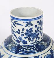 Mid 19th Century Chinese Blue & White Pottery Vase (4 of 9)