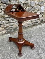 Victorian Mahogany Adjustable Duet Reading Stand (6 of 20)