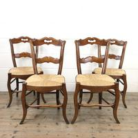Set of Four Antique French Fruitwood Dining Chairs (9 of 9)