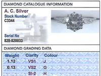 1.12ct Diamond & 18ct White Gold Solitaire Ring - Antique c.1920 (6 of 9)