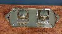 Antique Art Nouveau Brass Double Inkstand (6 of 7)
